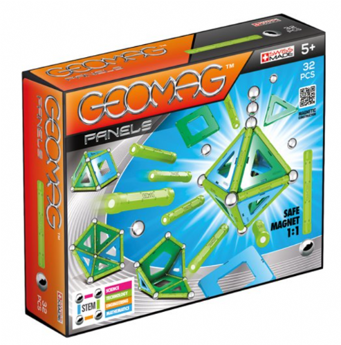 Geomag Panele Magnetic Toy Magnetic Construction 32pc Ages 5+